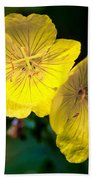 Yellow Is Gold Among The Flowers Beach Towel