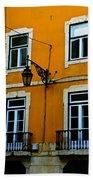 Yellow Italian Building Beach Towel