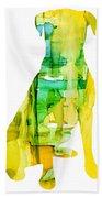 Yellow Lab Beach Towel