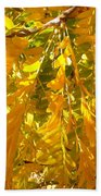 Yellow Leaves Beach Towel