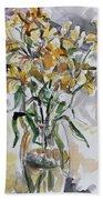 Yellow Lillies Beach Towel