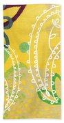 Yellow Paisley Garden Beach Sheet