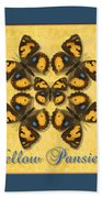 Yellow Pansy Butterfly Wheel Beach Towel