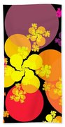 Yellow Pink Red Orbs Beach Towel