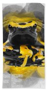 Yellow Poison Dart Frog No 04 Beach Towel