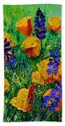 Yellow Poppies 560190 Beach Towel
