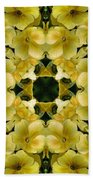 Yellow Primrose Kaleidoscope Beach Towel