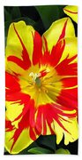 Yellow Red Flower Beach Towel