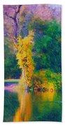 Yellow Reflections Beach Towel