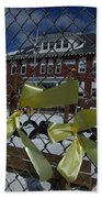 Yellow Ribbons At Groveton Elementary  Beach Towel