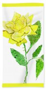 Yellow Rose, Painting Beach Towel