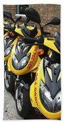 Yellow Scooters Beach Towel