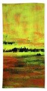 Yellow Sienna Black Beach Towel