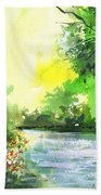 Yellow Sky Beach Towel