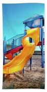 Yellow Slide Beach Towel