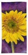 Yellow Sunflower Beach Towel