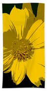 Yellow Sunshine Work Number 8 Beach Towel