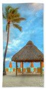 Yellow Tiki Beach Towel