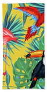 Yellow Tropic  Beach Towel by Mark Ashkenazi