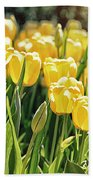 Yellow Tulip Panoramic Beach Towel