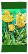Yellow Tulips Beach Sheet