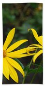 Yellow Wild Flower Beach Towel