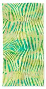 Yellow Zebra Print Beach Towel