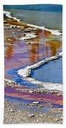 Yellowstone Abstract I Beach Towel by Teresa Zieba