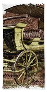 Yellowstone Park Stage Coach With Horses Pa 01 Beach Sheet