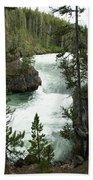 Yellowstone Waterfall Beach Towel
