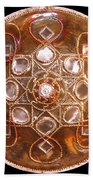 Yesirah Copper Lightmandala Beach Towel
