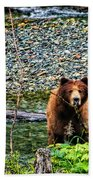 Yikes, It's A Grizzly Beach Towel