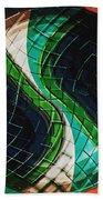 Yin Yang Abstract Beach Towel
