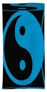 Yin Yang Blue Mosaic Beach Towel