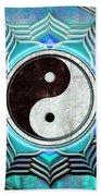 Yin Yang -  The Healing Of The Blue Chakra Beach Towel