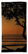 Yoga By The Bay At Sunset Beach Towel