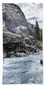 Yoho River At Takakkaw Falls Beach Towel