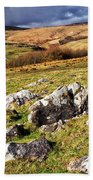 Yorkshire Dales Limestone Countryside Beach Towel