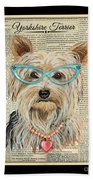 Yorkshire Terrier-jp3856 Beach Towel