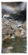 Yosemite Falls Rainbow Beach Towel