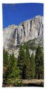 Yosemite Falls Through The Trees Beach Sheet