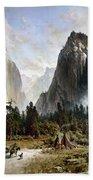 Yosemite Valley, C1860 Beach Towel