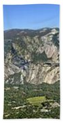 Yosemite Valley Panorama From Union And Glacier Points Beach Towel