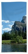 Yosemite Valley View X Beach Towel
