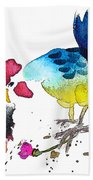 You Are My Sweet Heart Beach Towel by Miki De Goodaboom