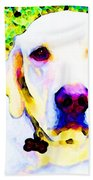 You Are My World - Yellow Lab Art Beach Towel
