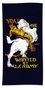You Are Wanted By Us Army Beach Sheet