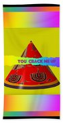 Abstract You Crack Me Up Beach Towel