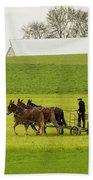 Young Amish Farmer Beach Towel