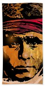 Young Apache Brave Beach Towel